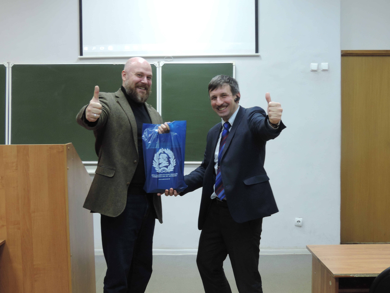 В.П. Березин и   за.кафедрой туризма ЯрГУ А.Ю. Данилов
