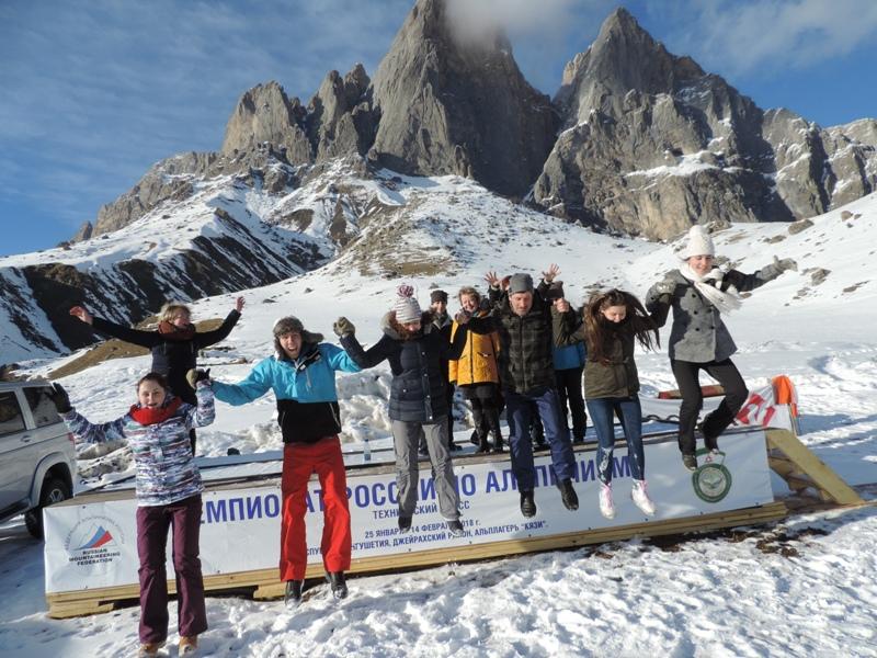 В лагере альпинистов