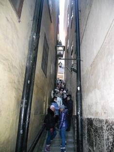 Стокгольм Самая узкая улочка в мире