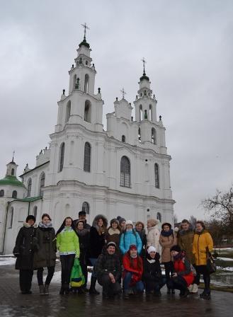 У знаменитого Софийского собора в Полоцке